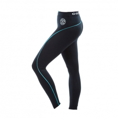 Ladies Long Gym Legging (Black/Turquoise). Jetzt bestellen!